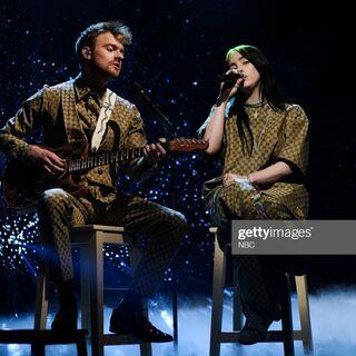 Billie performing <i>i love you</i> on SNL