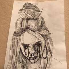 The drawing that inspired the music video concept.