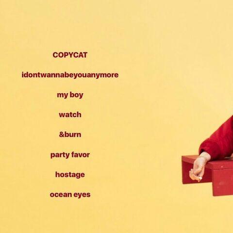 The EP's original tracklist