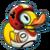 Duckie Football Duck