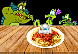 Theres a yeti in our spaghetti!