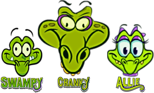 DEDSEC17 Swampy, his girlfriend Allie & Cranky head and logo