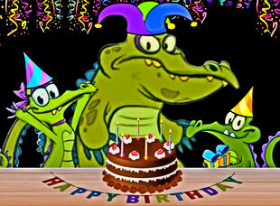 Happy Birthday from Swampy, Allie and Cranky!!!