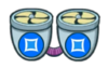 Двойной синий вентилятор