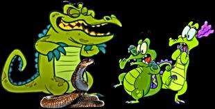 DEDSEC Swampy & Allie Scared by a cobra