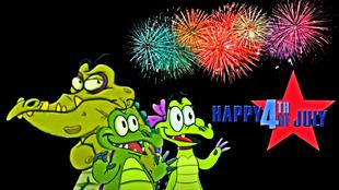 DEDSEC17 Swampy Allie & Cranky watching fireworks 2