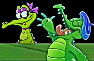Swampy singing to Allie 2