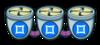 Тройной синий вентилятор