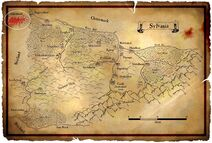 Sylvania Map with Argenland marked on it