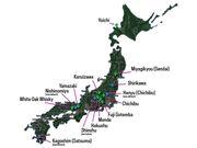 Map of Japanese Distilleries