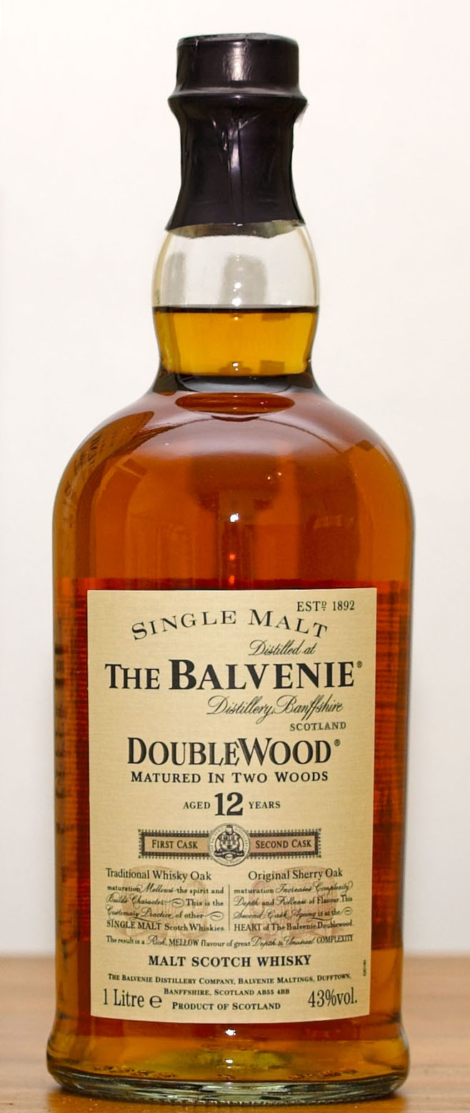 Balvenie doublewood single malt scotch whiskey