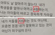 Example of passcode (Korean)