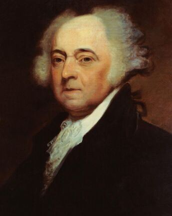 US Navy 031029-N-6236G-001 A painting of President John Adams (1735-1826), 2nd president of the United States, by Asher B. Durand (1767-1845)-crop