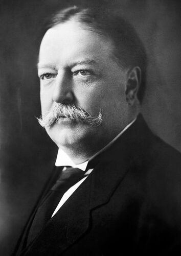 William Howard Taft, Bain bw photo portrait, 1908