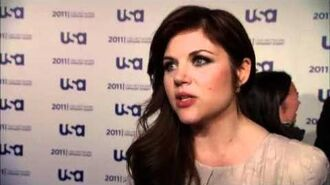 Tiffani Thiessen talks White Collar at USA Upfronts