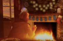 Thirteenth Doctor in Yule Log