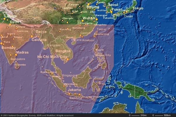 Cities of Asia-Natl. Geog. Map Machine-SouthChinaSea