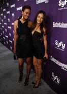 WLIIA- Aisha Tyler with friend Maggie Q