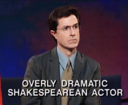 Colbert in character