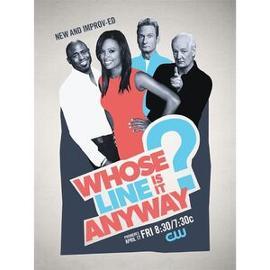 Whose Line? Season 11 (2015) billboard promo poster with cast