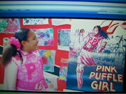 Real and Comic Pink Puffle Girl