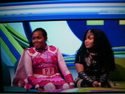 Pink Puffle Girl with Gold Starlet on Newsround