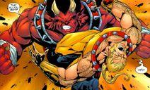 Hellboy plants Sabretooth