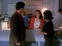 Admitting nurse talking to andy and prue