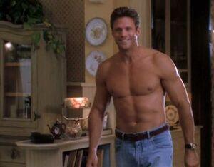 Hans shirtless