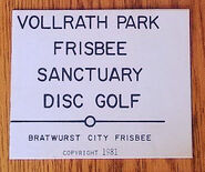1981 Vollrath Park Frisbee Sanctuary Disc Golf scorecard cover