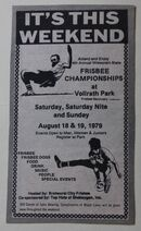 1979 Wis State Frisbee Championships ad