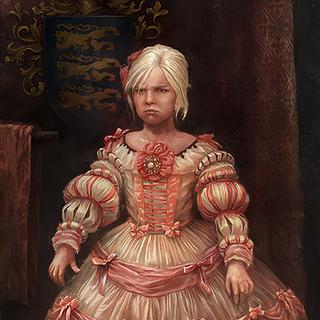Obraz młodej Ciri w grze Wiedźmin 3