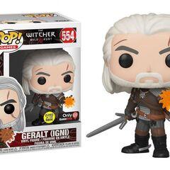 Figurka Geralta rzucającego Igni od Funko Inc.