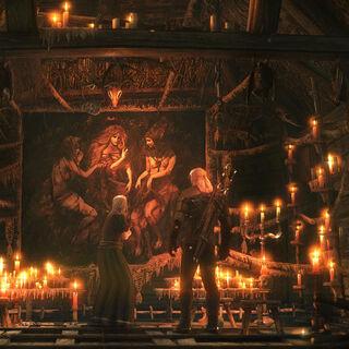Ołtarz Wiedźm wewnątrz sierocińca