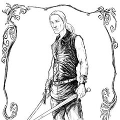 Ilustracja Geralta w czeskim wydaniu książek