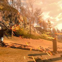 Alternatywna wersja Znaku Igni w grze Wiedżmin 3: Dziki Gon