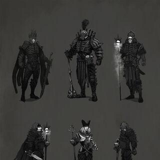 Grafika koncepcyjna przedstawiająca wczesne wersje Dzikiego Gonu