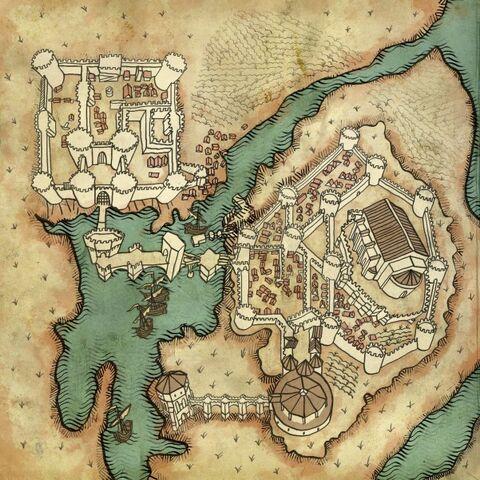 Mapa zamku La Valette