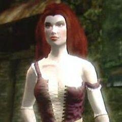 Screen z gry przedstawiający Carmen w oryginalnej wersji gry