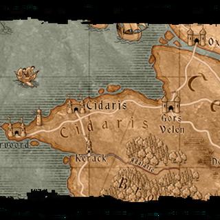 Mapa z gry Wiedźmin