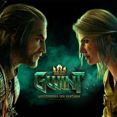 Oficjalna tapeta z Geraltem i Ciri