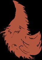 Znak Scoia'tael - wiewiórczy ogon przyczepiony do czapki