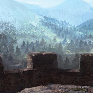 Widok z murów warowni