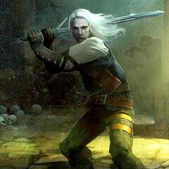 Geralt ze srebrnym mieczem