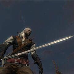 Geralt przed walką