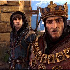 Król Foltest z Vernonem Roche