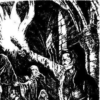 Eskel (po prawej) na ilustracji z czeskiego wydania <i>Krwi elfów</i>