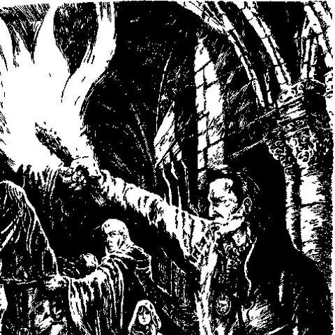 Eskel (po prawej) na ilustracji z czeskiego wydania <i><a href=