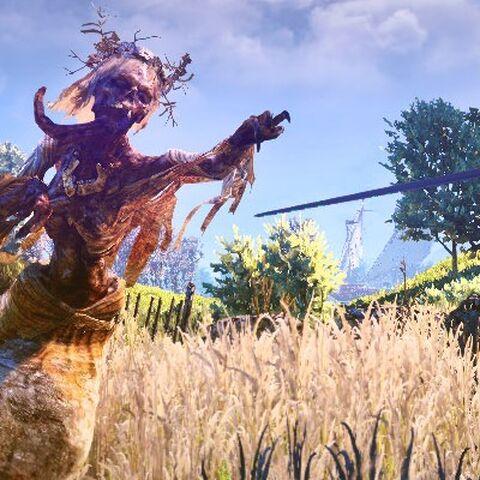 Geralt walczący z południcą