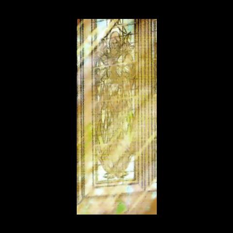 Prorok Lebioda na witrażu w komiksie <a href=